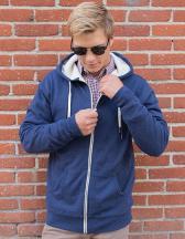 Unisex Sherpa Lined Zip Hooded Jacket